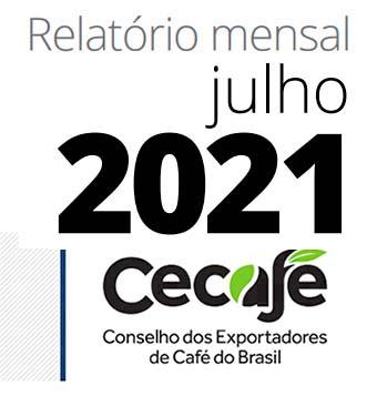 Receita cambial com a exportação dos Cafés do Brasil totaliza US$ 3,2 bilhões no acumulado de janeiro a julho de 2021